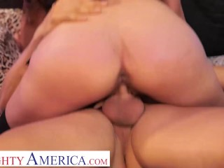 Nasty America - Harley Haze pleads for Giovanni's married weenie after their butt treatment!!!