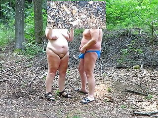 Forest in the altogether wank almost lass