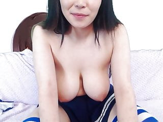 18 year old busty Korean shows boobs and pussy on cam
