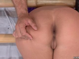 Deep throat bound cougar screwed