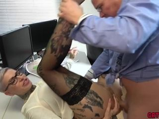 Rectal stream! Manager badly Made A 3-hole Mare! - Cat Coxx