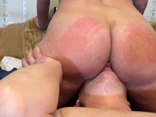 Cougar sat on face and blasted in him facehole - Agata Anallove