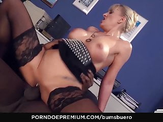 Butts BUERO - huge-titted German cougar plumbed by big black cock