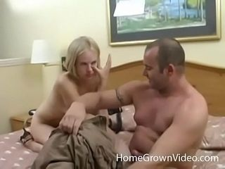 Crazy big-titted platinum-blonde unexperienced rump pummeled in a motel