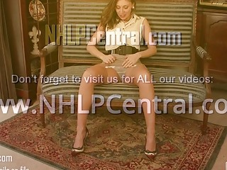 Lippy brown-haired French Chloe unclothes off antique undergarments frigs unshaved vag in nylons