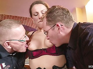 GERMAN massive orb cougar entice pound rectal IN massive man-meat 3 way