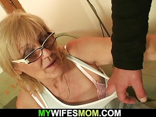 Highly older bony ash-blonde mommy rails sonnie fuck-stick