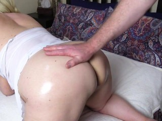 Big Tit Step mum has her old up ass and pussy poked by neighbour