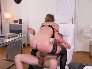 Liza Bilberry Gets Proper Ass Fucking Treatment Bootie to mouth