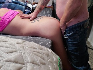 Sukie Rae licks and sucks my throbbing cock. I fuck her tight wet pussy and cum on her ass
