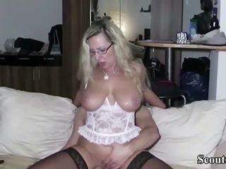 German cougar Made pulverize 18yr aged stud and let him jizz two times