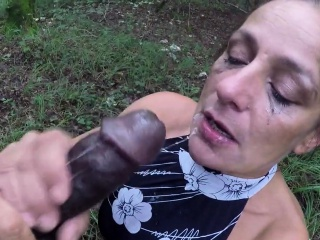 Big black cock throatfuck in knob part-3
