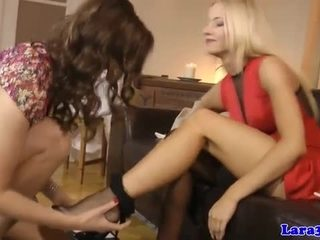 British mature licks gorgeous babes clit