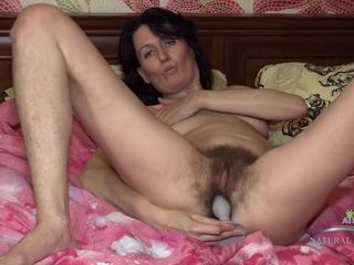 Hardcore Toying With Insane Hairy Mature Evil Eva