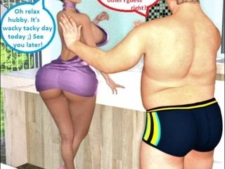 3D Comic: Cuckold Wife Gets Dirty With Her Boss On Wacky Ta