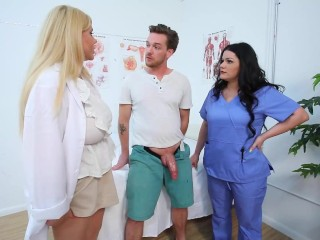 Medical Mamacitas Angelina Castro And Karen Fisher Dicked!