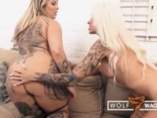 """""""Random threesome with hot German MILF Sophie Logan and Mia Blow! WOLF WAGNER"""""""