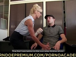 PORNO ACADEMIE - libidCanadian junkous French motor coach Margivea Beaulieu arse &amp_ pussy fucked changeless give threeway
