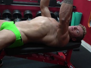 Jaw-dropping exercise In my g-string Speedo And Flexing With sizzling LIGHTING AT THE END