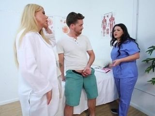 'Nymph medics Karen Fisher And Angelina Castro Make Their Patient perceive Good'