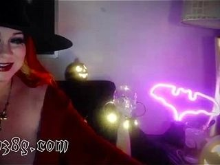 Unholy Witch on web cam talking up aficionados