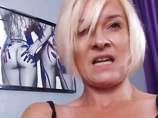 Cougar abuses adult toys while alone at home