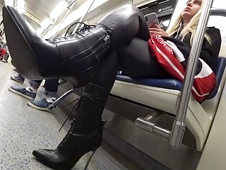 Slutty Woman on Train (Candid)