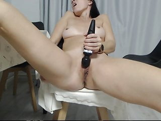 Sexy Milf Strip and Pussy Play Vibrator