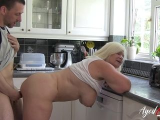 AgedLovE Busty Tits British Blond Hair Babe Mature Hard Core