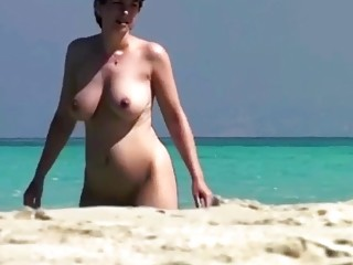 Spy Beach Mature Pregnant Epic Puffy Nipples Compilation