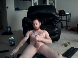 Wanking and spunk dressed in CockRing