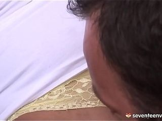 Red-haired cougar love booty-fuck banging and booty-to-facehole act