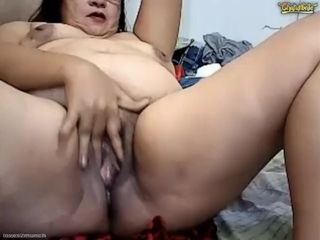 Pinay Granny Fingers Cunt exasperation Squirts ATM Pees Vomits exposed to Chaturbate
