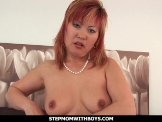 Step-momWithBoys - cool japanese step-mom tearing up Her lustful son