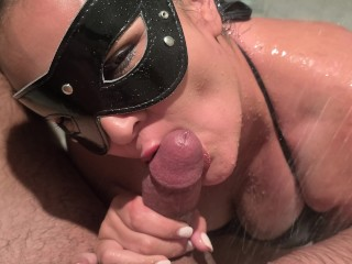 Filthy oral job After Pool Time Leads To edible jism In My belly!!