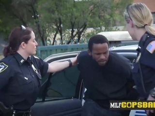 Draped id criminal gets caught and romped by cougar cops