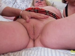 OldNannY Nasty Mature Lesbians in Threesome