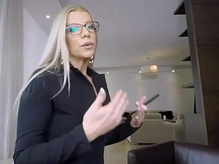 Naughty MILF sex teacher in POV