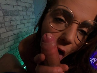 Young Milf Knows How To Suck And Make It Messy - Sloppy Blowjob