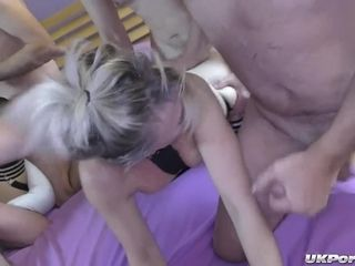 British mom Whores Enjoy a Gangbang Party, to get Pounded and Jizzed on