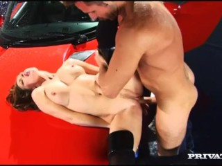 Judith Fox luvs softcore fuckfest On Her Dodge Viper Sports van And Gets A facial cumshot