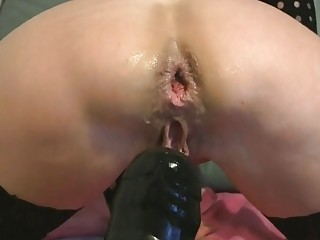 Hot Granny With Pierced Pussy, Anal Gape and Dildo - CoViD-88