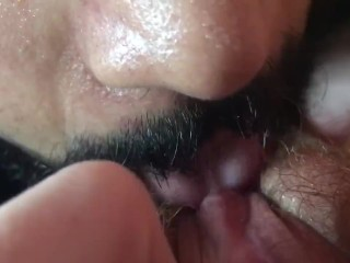 Eating my Wife's Ginger pussy till she cums