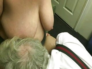 Worm hubby licking-up ten men's spunk after they used me