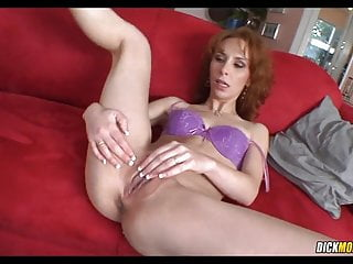 Multiracial with insatiable red-haired milf