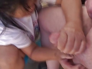 Filipina wife jerking my cock again