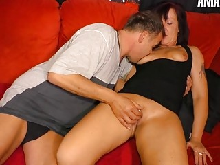 AmateurEuro - Mature Couple Gets Down & Dirty On The Couch