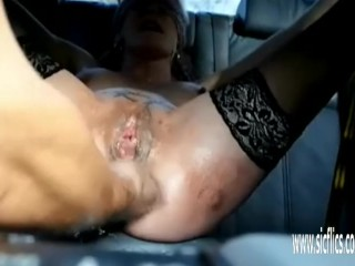 Kick going knuckle deep her caboose and honeypot in restrain bondage