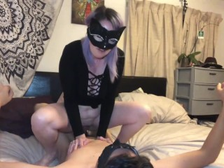 Ultra-kinky duo become inexperienced pornography starlets hooded wifey takes beefstick on camera for OnlyFans and ManyVids
