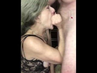 Mature super hot cougar GILF fellate and Facefuck blessed Meal Ahegao-Hardcore!